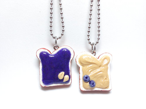 Peanut Butter & Blueberry Jelly Necklaces