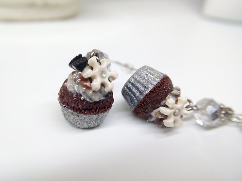 Winter Cupcake Earrings