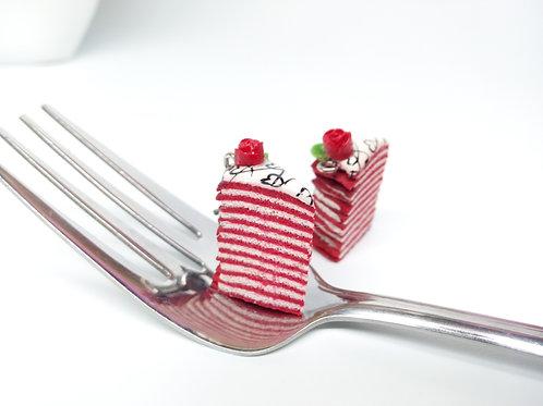 Valentine's Red Velvet Crêpe Cake Charm