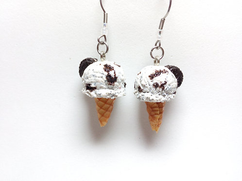 Cookies & Cream Ice Cream Earrings