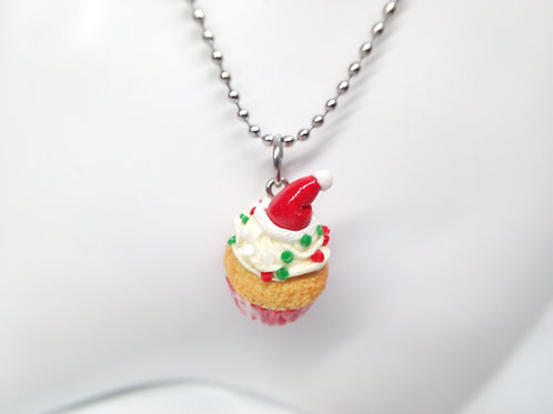 Santa Cupcake Necklace