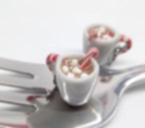 hot cocoa charm, miniature ho cocoa, hot cocoa cup