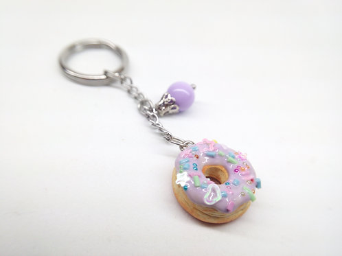 Lilacfetti Donut Key Chain
