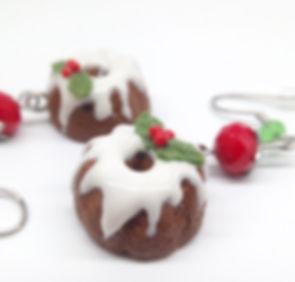 christmas pudding, polymer clay pudding