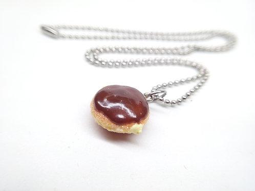Boston Cream Donut Necklace