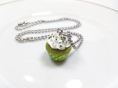 Green Tea Cupcake Necklace