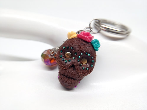 Brownie Skull Keychain