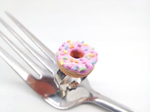 Pink Sprinkle Donut Ring