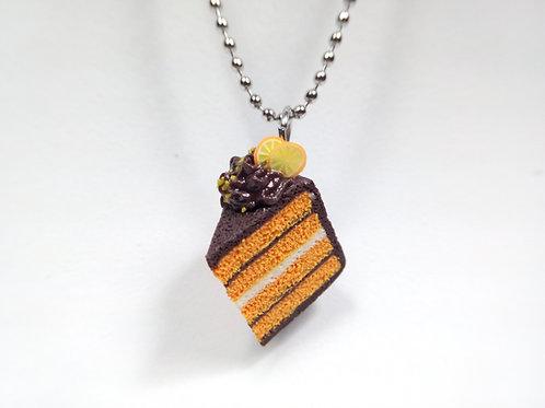 Orange & Chocolate Cake Necklace