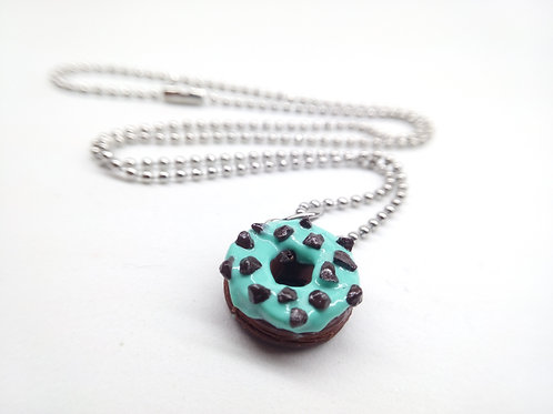 Mint & Chocolate Donut Necklace