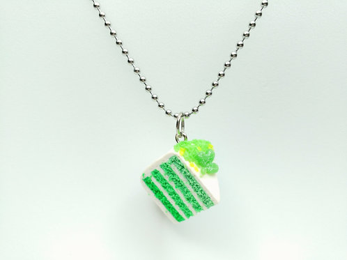 St. Patrick's Day Cake Necklace
