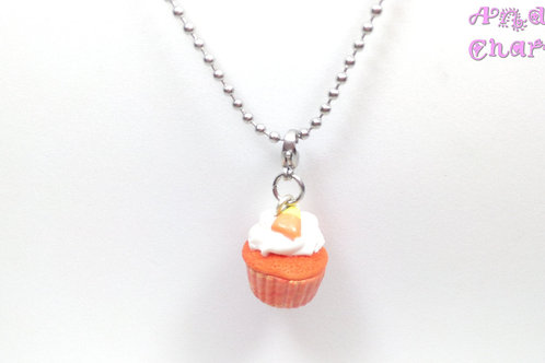 Candycorn Cupcake Necklace