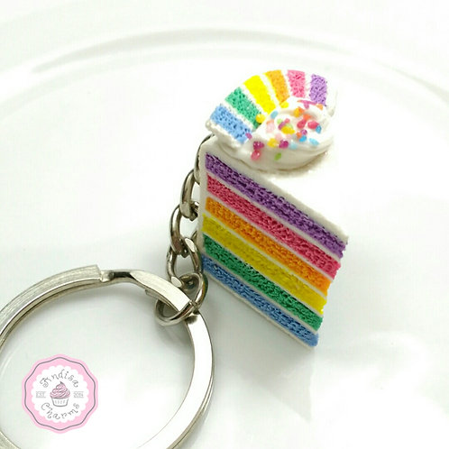 Rainbow Cake Key Chain