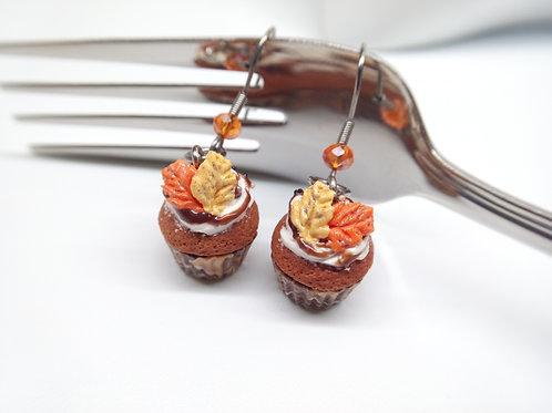 Pumpkin Spice Cupcake Earrings