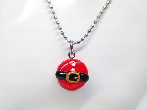 Santa Macaron Necklace