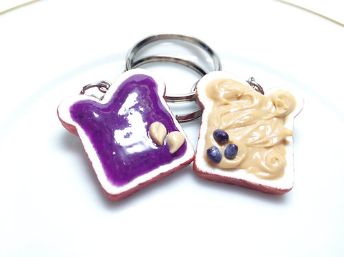 Peanut Butter & Grape Jelly Keychain