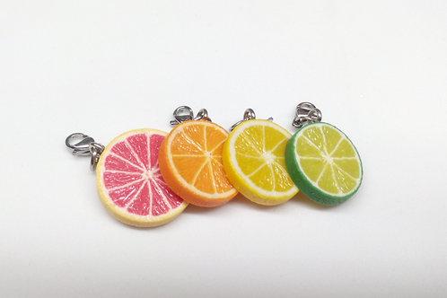 Citrus Fruit Slice Charm