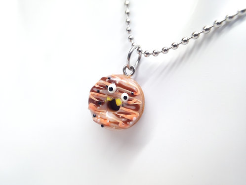 Pumpkin Spice Goofy Donut Necklace