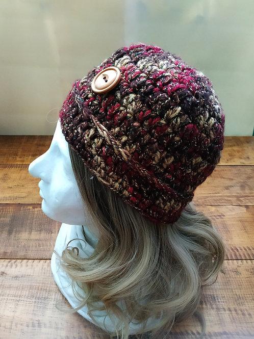 Warm Colors Crochet Beanie