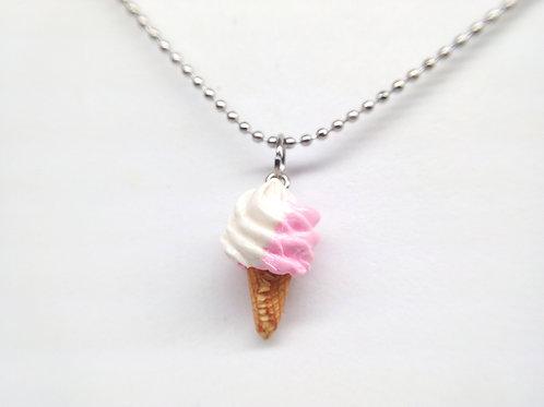 Pink Soft Ice Cream Necklace