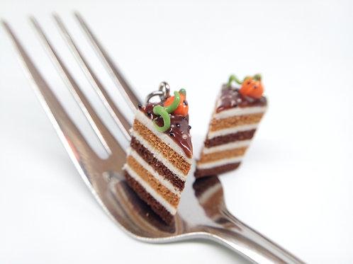 Pumpkin & Chocolate Fall Cake Charm