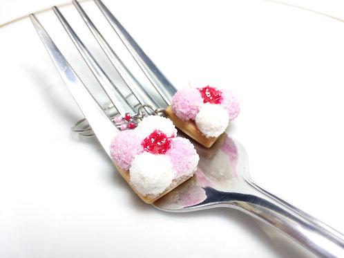 Marshmallow Cookie Earrings