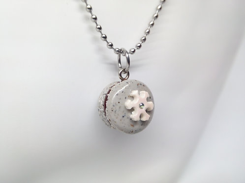 Winter Macaron Necklace