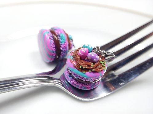 Easter Nest Macaron Charm