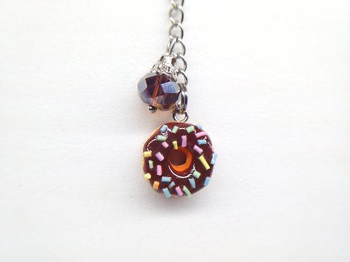 Chocolate Sprinkle Donut Key Chain