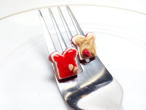 Strawberry Jam & Peanut Butter Studs