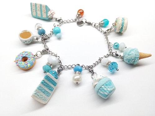 Blue Velvet Desserts Charm Bracelet