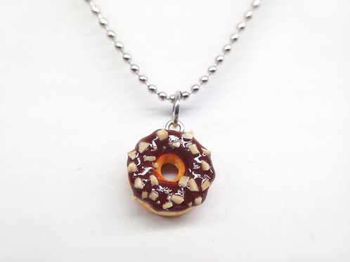 Nuts & Chocolate Donut Necklace