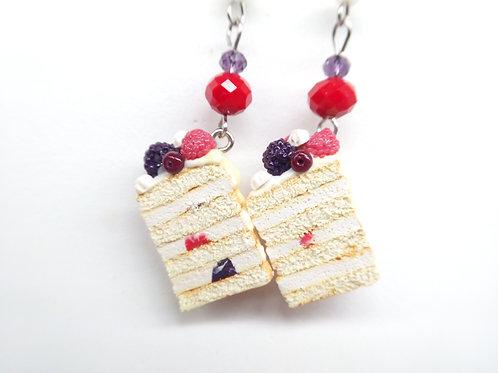 Summer Pavlova Cake Dangle Earrings