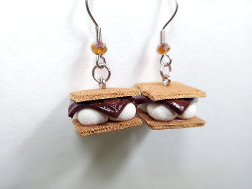 S'more Dangle Earrings