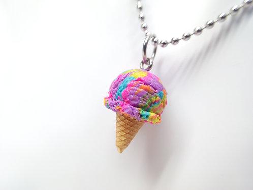 Neon Sherbet Cone Necklace