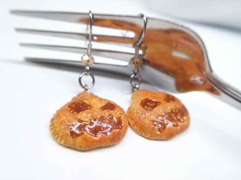 Pumpkin Hand Pie Earrings