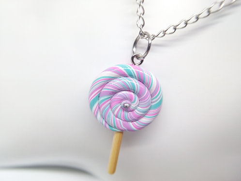 Cotton Candy Lollipop