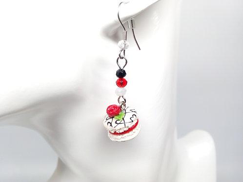 Valentine's Macaron Dangle Earrings