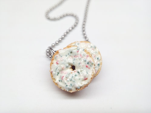 Spicy Cream Cheese Bagel Necklace