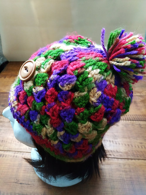 Colorful Crochet Beanie