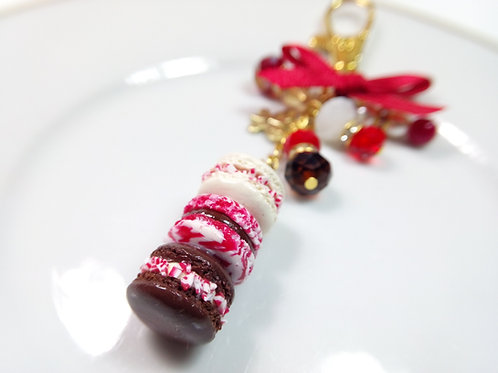 Peppermint and Chocolate Macaron Stack Charm