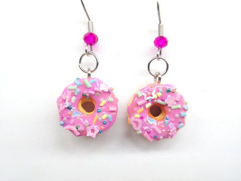 Pinkfetti Donut Dangle Earrings
