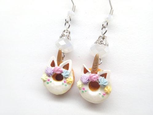 Unicorn Donut Dangle Earrings