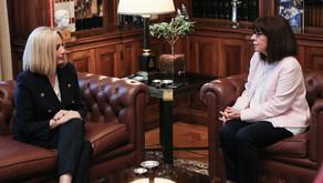 Σακελλαροπούλου για Γεννηματά: Γενναία γυναίκα, έδωσε με αξιοπρέπεια όλες τις μάχες της ζωής της