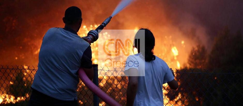 Μαίνεται η φωτιά σε Βαρυμπόμπη, Αδάμες και Θρακομακεδόνες - Κάηκαν σπίτια