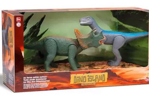 Triceratops e Velociraptor - Dino Island