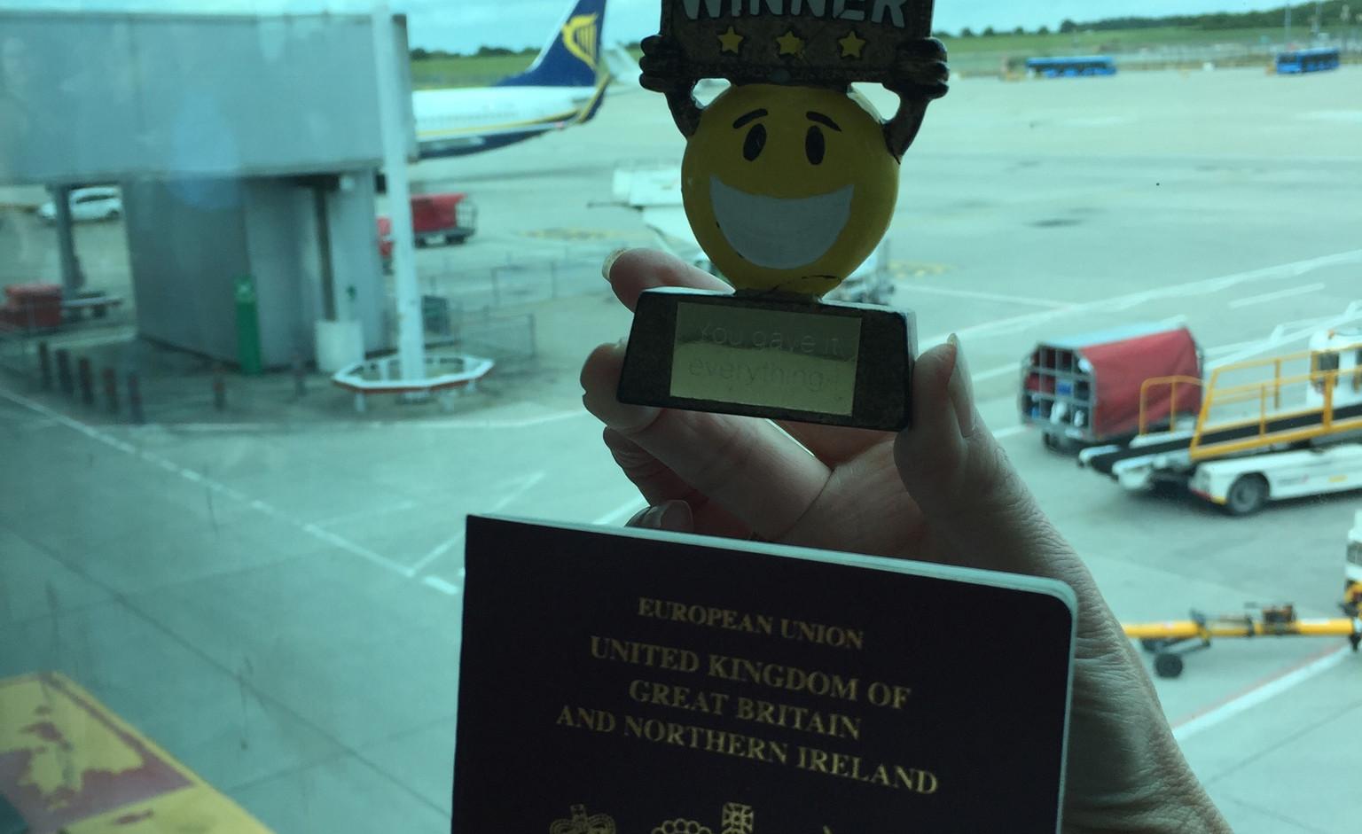 WIGGY TOOK HIS PASSPORT