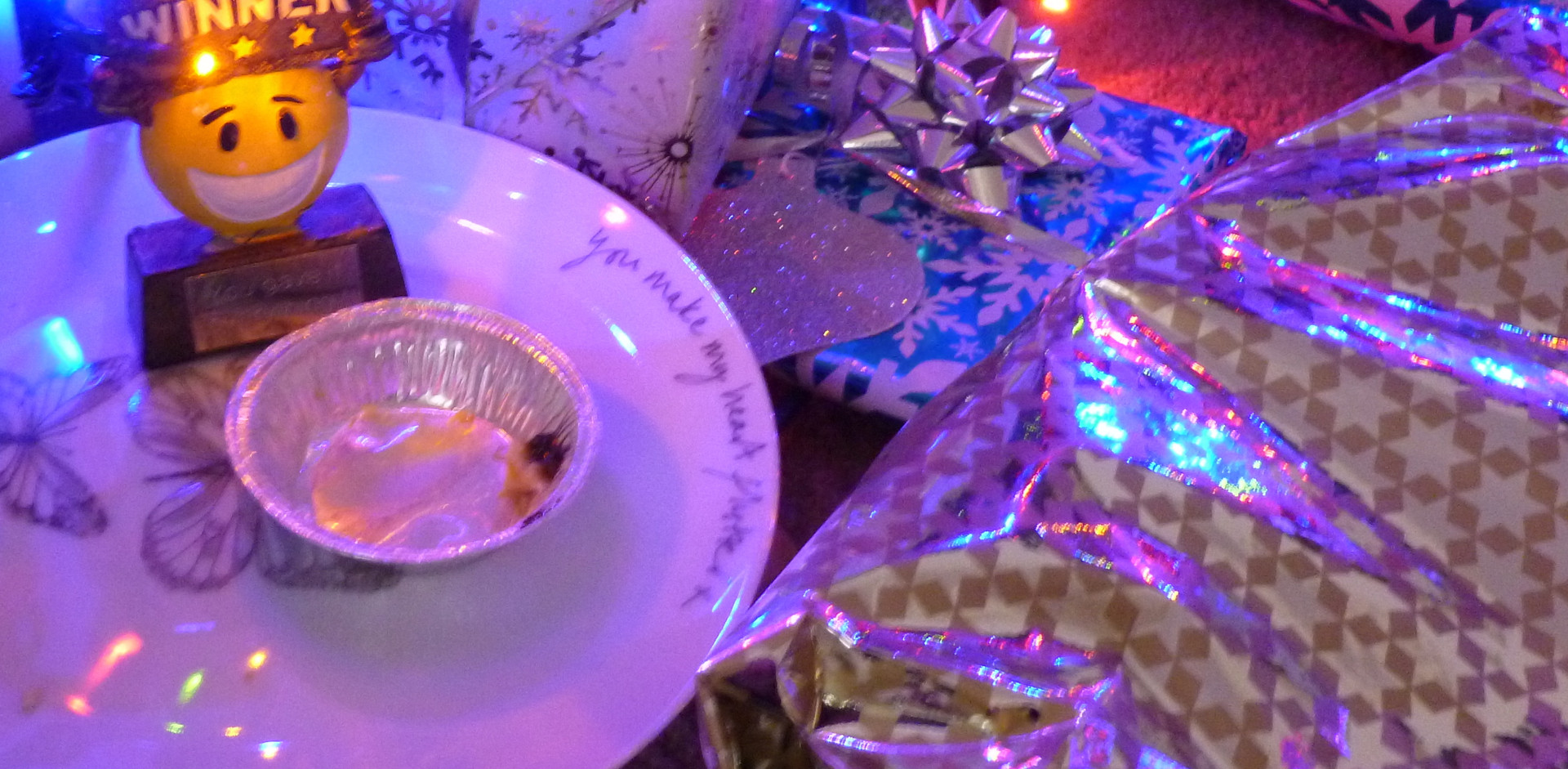 wiggy ate Santa's mince pie