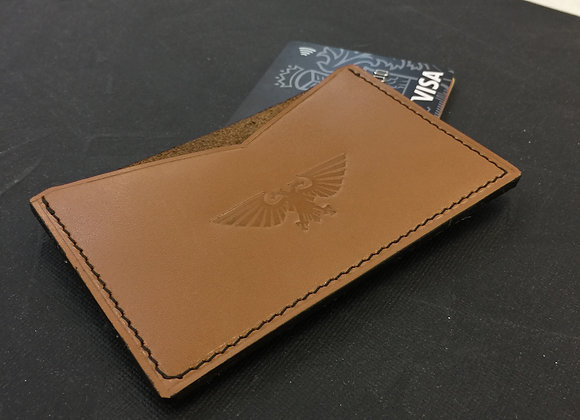 Leather cardholder with Aquila
