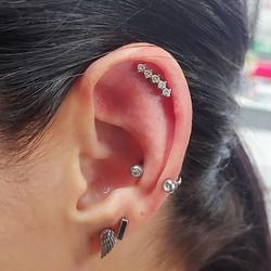 Added some bling to Kristens ear